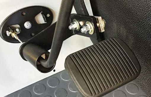 passenger foot operated dual brake pedal